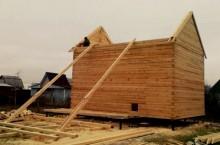 Как построить бревенчатую баню?