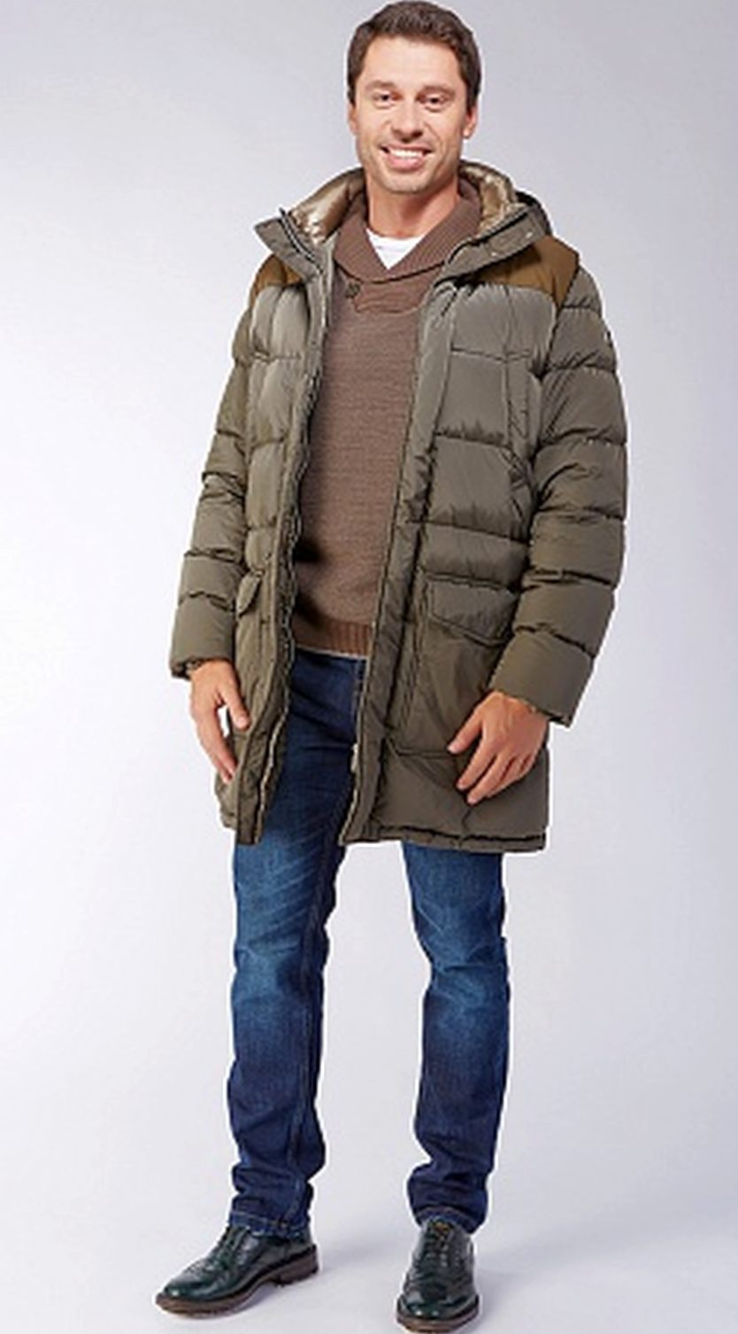 Зимний мужской пуховик ADD цвета хаки